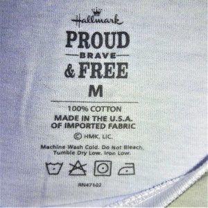 Hallmark Tops Proud Brave Free America Tee Shirt M 2303 Poshmark